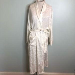 Victoria's Secret Ivory Long Sleeve Robe
